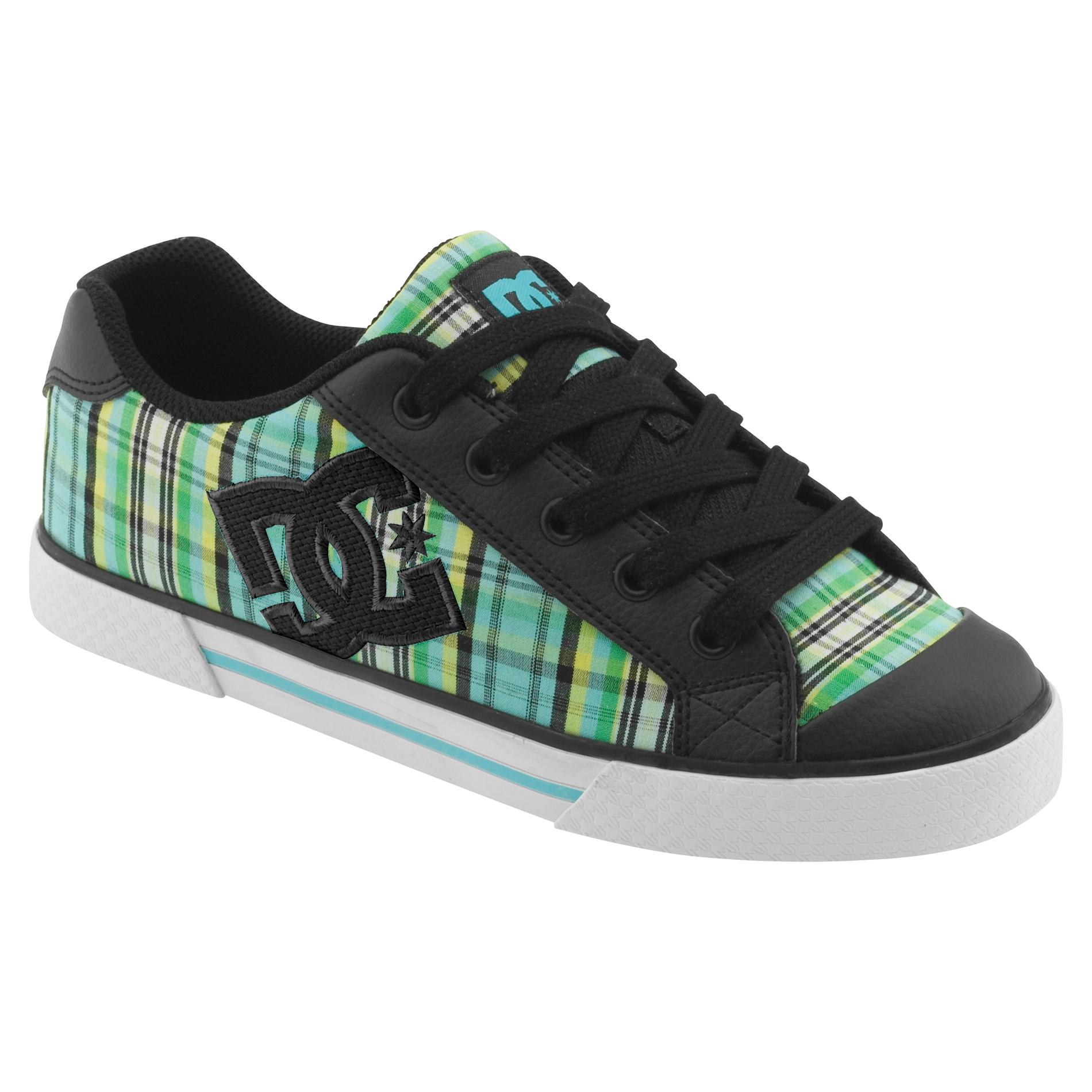 pin dc shoes chaussures chelsea femme noir ocean plaid. Black Bedroom Furniture Sets. Home Design Ideas