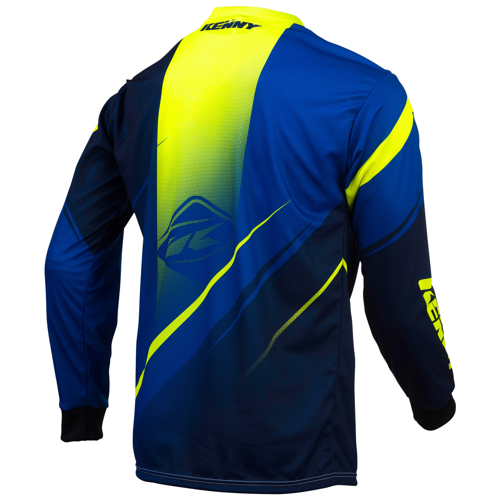 maillot kenny track manches longues bleujaune fluo 2016 probikeshop - Chambre Jaune Fluo