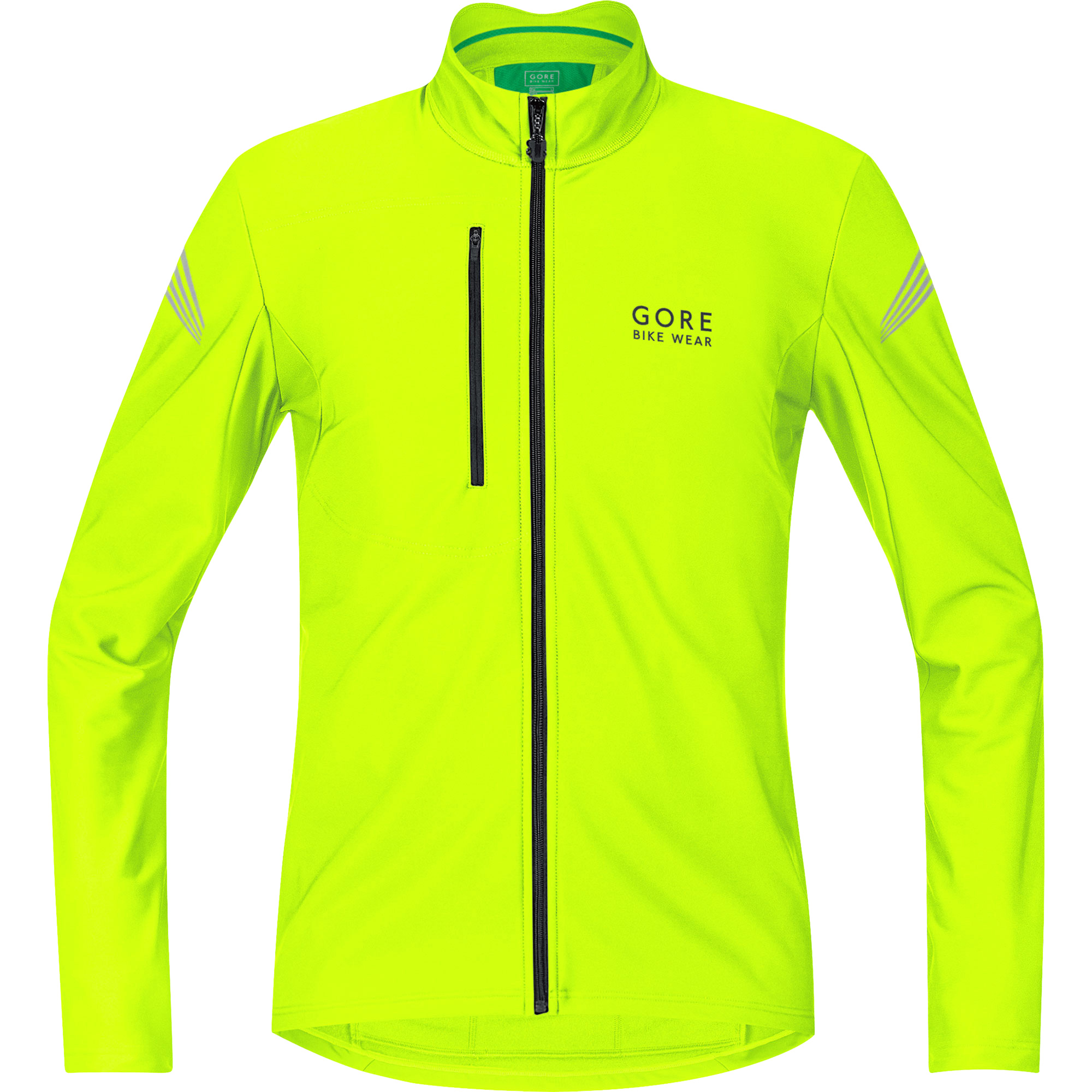Maillot GORE BIKE WEAR ELEMENT THERMO Mangas largas Amarillo fluorescente