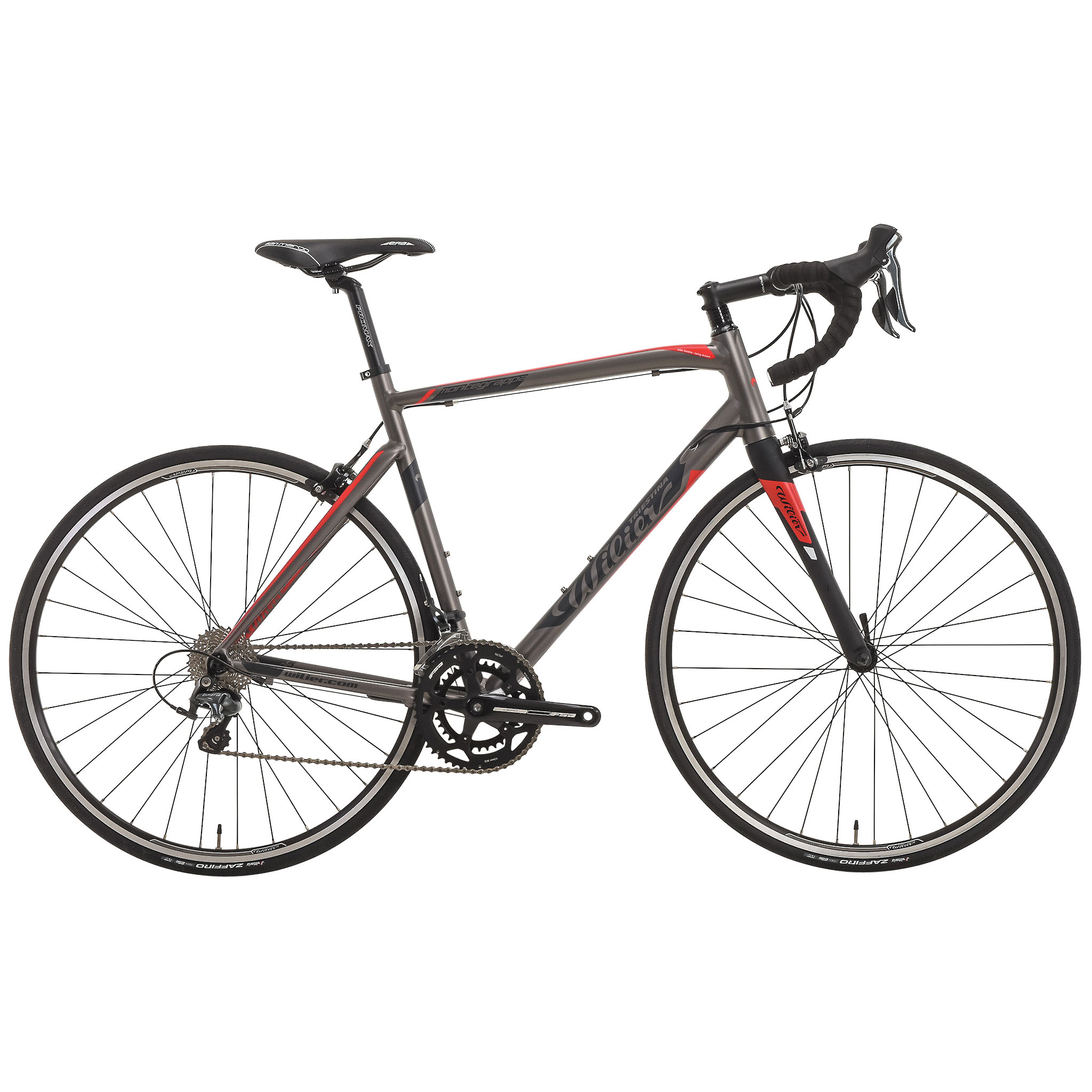 Bicicleta de carrera WILIER TRIESTINA MONTEGRAPPA Shimano Tiagra 4700 34/50 Gris 2017