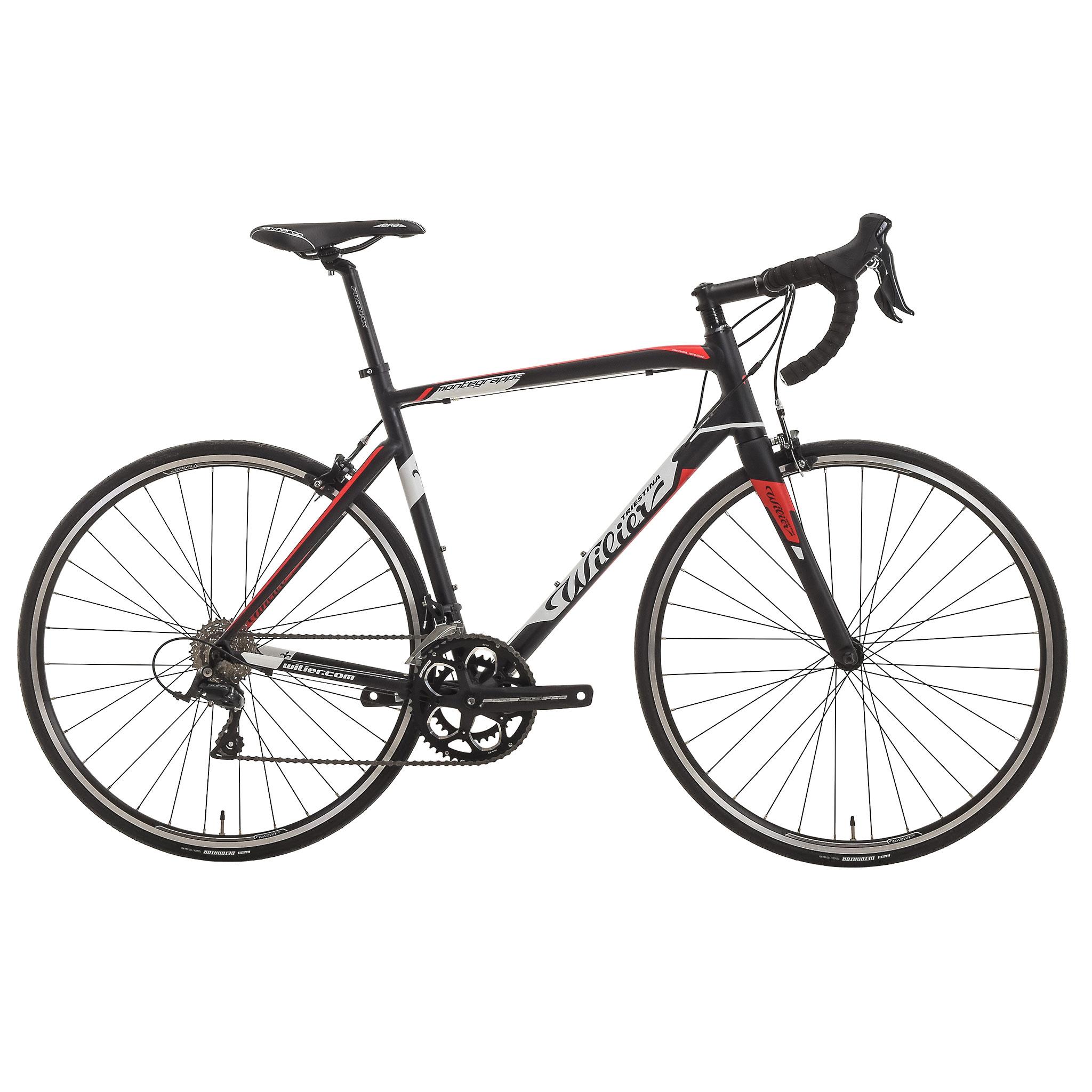 Bicicleta de carrera WILIER TRIESTINA MONTEGRAPPA Shimano Sora 3500 34/50 Negro 2017
